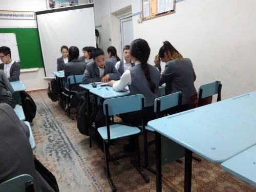 """Открытый урок по программе """"многоязычность"""". Обучение кыргызского языка как второй язык методом коммуникации."""